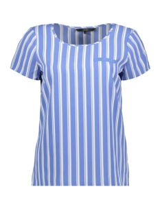 vmsasha ss top w. pocket a color 10195725 vero moda t-shirt granada sky/snow white