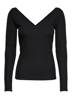 Only T-shirt ONLMILA L/S V-NECK TOP JRS 15174510 Black