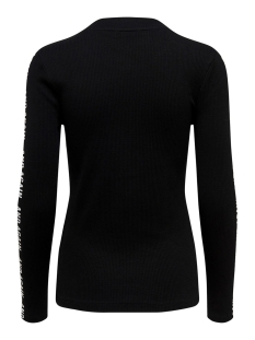 onyvictoria l/s rib top box jrs 15185509 only trui black/ text at sleeves