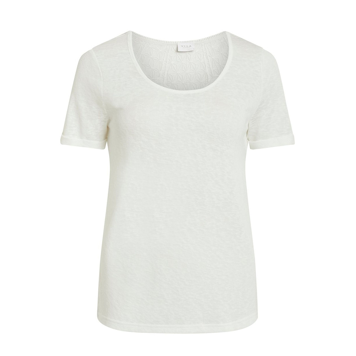 visumi s/s new back lace top- noos 14052655 vila t-shirt snow white