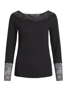 Vila T-shirt VISOFI BOATNECK L/S T-SHIRT 14053960 Black/W. BLACK L
