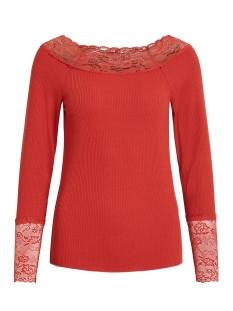 Vila T-shirt VISOFI BOATNECK L/S T-SHIRT 14053960 Ketchup/KETCHUP LA