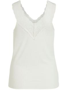 visofi v-neck s/l top 14053965 vila top whisper white/w. white