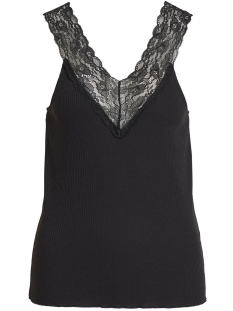 Vila Top VISOFI V-NECK S/L TOP 14053965 Black/w. black