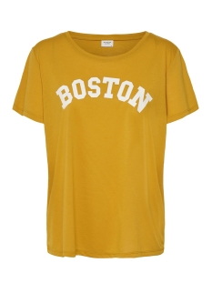 Jacqueline de Yong T-shirt JDYCITY TREATS S/S PRINT TOP 07 19 15179413 Harvest Gold/BOSTON