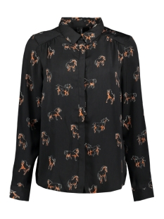 Vero Moda Blouse VMLIZZY ANIMAL L/S SHIRT EXP 10224642 Black/HORSE