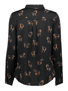vmlizzy animal l/s shirt exp 10224642 vero moda blouse black/horse