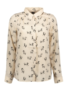 Vero Moda Blouse VMLIZZY ANIMAL L/S SHIRT EXP 10224642 Shifting Sand/HORSE