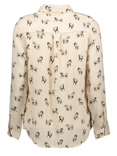 vmlizzy animal l/s shirt exp 10224642 vero moda blouse shifting sand/horse