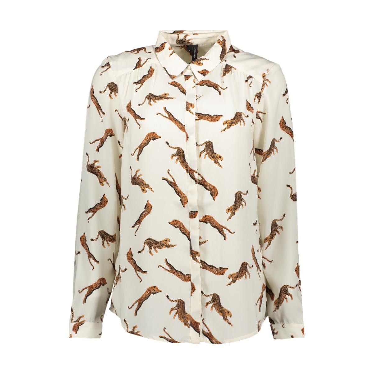 vmlizzy animal l/s shirt exp 10224642 vero moda blouse pristine/tiger