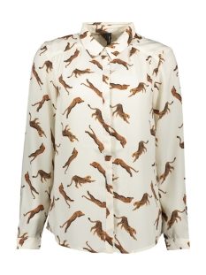 Vero Moda Blouse VMLIZZY ANIMAL L/S SHIRT EXP 10224642 Pristine/TIGER