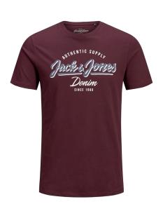 jjelogo tee ss crew neck 2 col aw19 12157325 jack & jones t-shirt port royale/slim