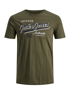 Jack & Jones T-shirt JJELOGO TEE SS CREW NECK 2 COL AW19 12157325 Olive Night/SLIM