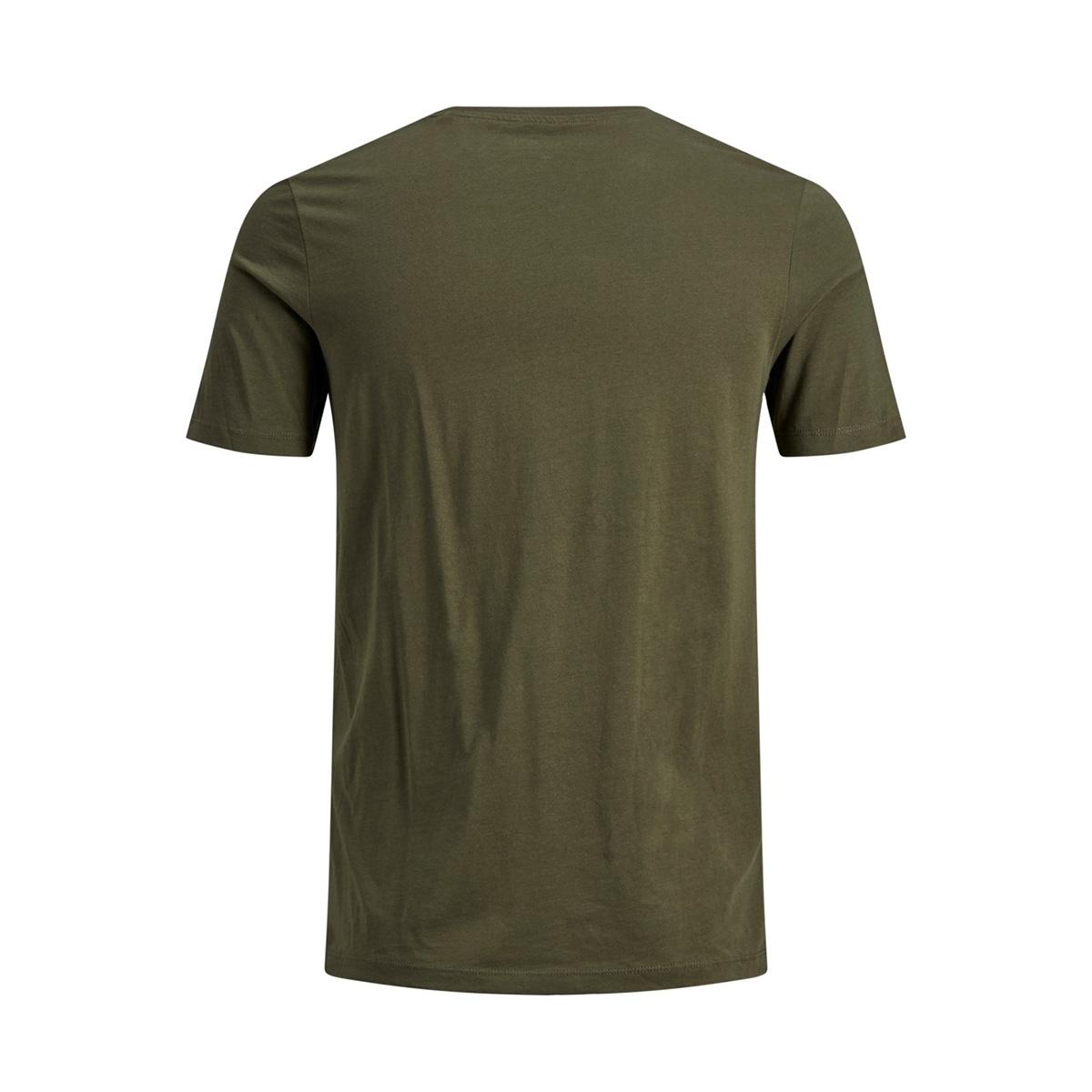 jjelogo tee ss crew neck 2 col aw19 12157325 jack & jones t-shirt olive night/slim