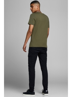 jjelogo tee ss crew neck 2 col aw19 12157325 jack & jones t-shirt olive night/slim