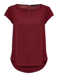 Only T-shirt ONLVIC S/S SOLID TOP NOOS WVN 15142784 Merlot