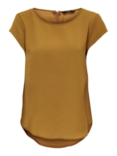 Only T-shirt ONLVIC S/S SOLID TOP NOOS WVN 15142784 Cathay Spice