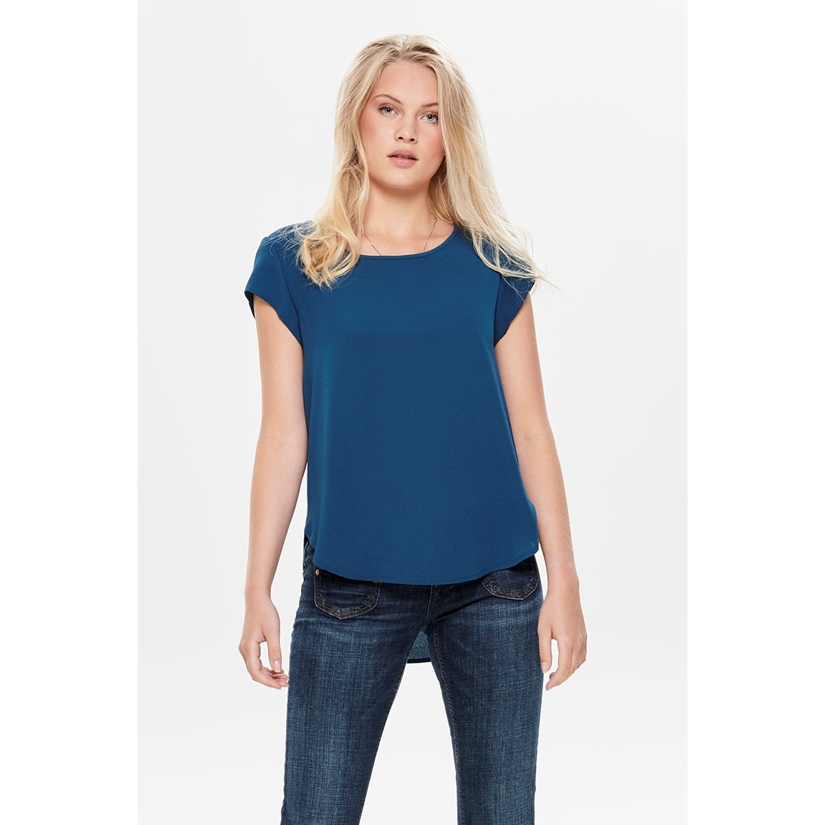 onlvic s/s solid top noos wvn 15142784 only t-shirt gibraltar sea