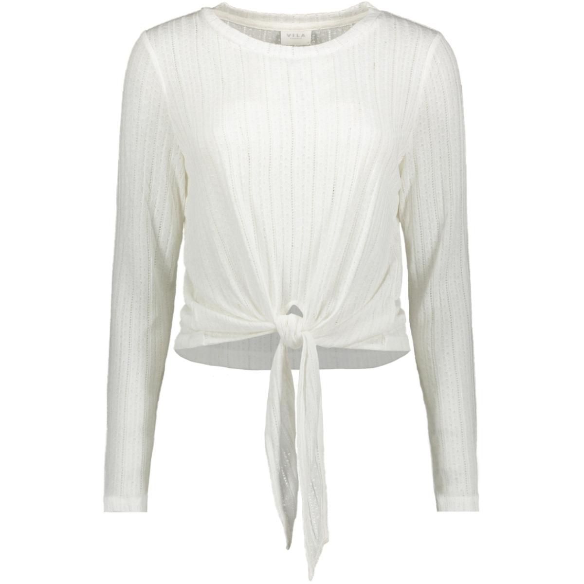 viflori l/s t-shirt/tb 14054509 vila t-shirt cloud dancer