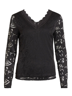 Vila T-shirt VISTASIA V-NECK LACE TOP-FAV NX 14053487 Black