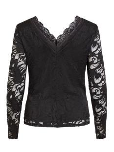 vistasia v-neck lace top-fav nx 14053487 vila t-shirt black