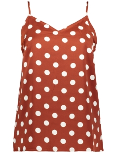 Pieces Top PCKAMIRA PRINTED SLIP TOP D2D 17102962 Picante/White Dots