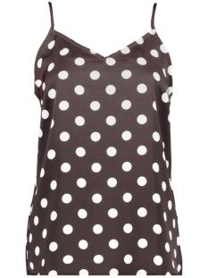 pckamira printed slip top d2d 17102962 pieces top chocolate plum/white dots