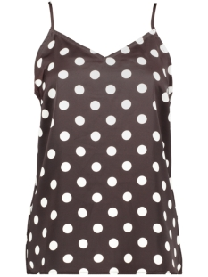 Pieces Top PCKAMIRA PRINTED SLIP TOP D2D 17102962 Chocolate Plum/White Dots