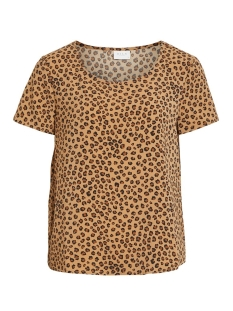 Vila T-shirt VILAIA S/S TOP - FAV LUX 14049949 Tigers Eye/MOHEDA