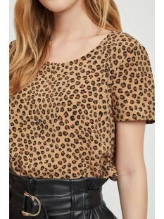 vilaia s/s top - fav lux 14049949 vila t-shirt tigers eye/moheda