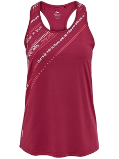 Only Play Sport top ONPJENNIFER AOP SL TRAINING TOP 15175600 Beet Red/W. WHITE