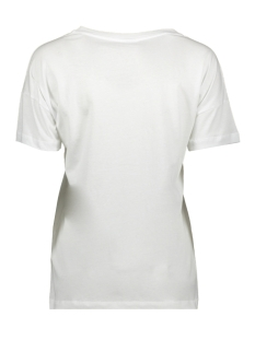 nmcommand s/s print top 5 27008142 noisy may t-shirt bright white/geel