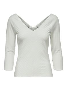 Only T-shirt ONLGINA 3/4 V-NECK TOP JRS 15186174 Cloud Dancer