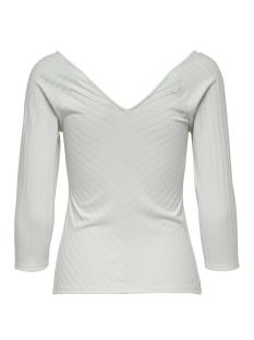 onlgina 3/4 v-neck top jrs 15186174 only t-shirt cloud dancer