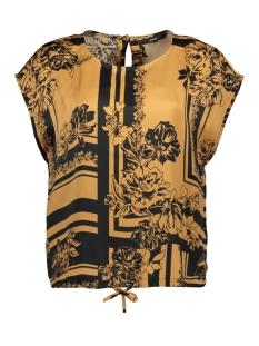 Vero Moda T-shirt VMMIMI SS TOP WVN 10219584 Tobacco Brown/MIMI AOP
