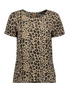 Vero Moda T-shirt VMSASHA SS ZIP TOP COLOR 10225336 Silver Mink/LEA