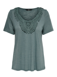 Only T-shirt ONLISA S/S SLEEVE TOP 15187083 Balsam Green