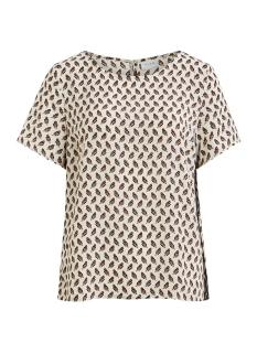 vikit s/s top 14055382 vila t-shirt cloud dancer/navy blaze