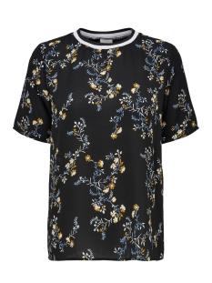 Jacqueline de Yong T-shirt JDYZOEY TREATS S/S RIB TOP WVN 15181127 Black/FALL FLOWE