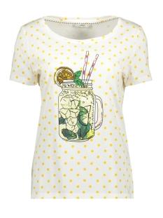 Only T-shirt ONLKITA SS MIX T-SHIRT JRS 15183292 Cloud Dancer/ SOLAR POWER