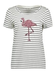 Only T-shirt ONLKITA SS MIX T-SHIRT JRS 15183292 Cloud Dancer/ NIGHT SKY