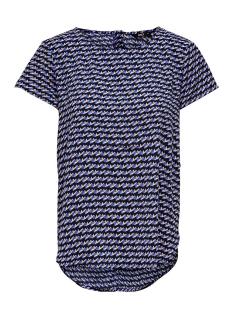 Only T-shirt ONLDARLING SS FIRST TOP WVN 15199515 Dazzling Blue/GEOMETRIC