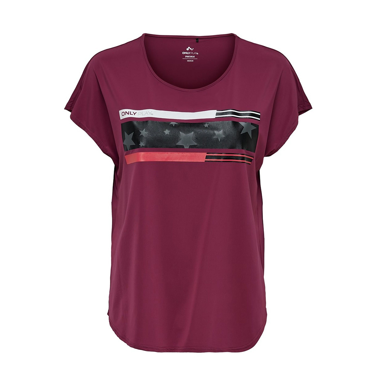 onpaudrey loose ss training tee 15175795 only play sport shirt beet red