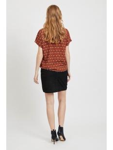 objrory mari s/s top 105 i. div 23031621 object t-shirt brown patina/aop