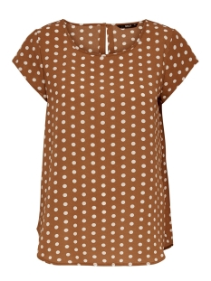 Only T-shirt ONLNOVA LUX AOP  S/S TOP 7 WVN 15187415 Ginger Bread/PRETTY DOT