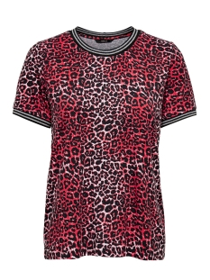 Only T-shirt ONLSPORT LOUISA S/S TOP JRS 15199798 High Risk Red/LEO