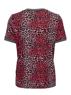 onlsport louisa s/s top jrs 15199798 only t-shirt high risk red/leo