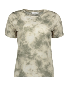 Only T-shirt ONLIRINA S/S T-SHIRT JRS 15193597 Cloud Dancer/GREEN TIE