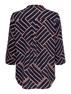 jdywin treats 3/4 placket top wvn 15176886 jacqueline de yong blouse sky captain/graphical