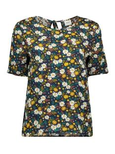 Jacqueline de Yong T-shirt JDYMARLI S/S STRING TOP WVN 15181118 Sky Captain/DITSY FLOW